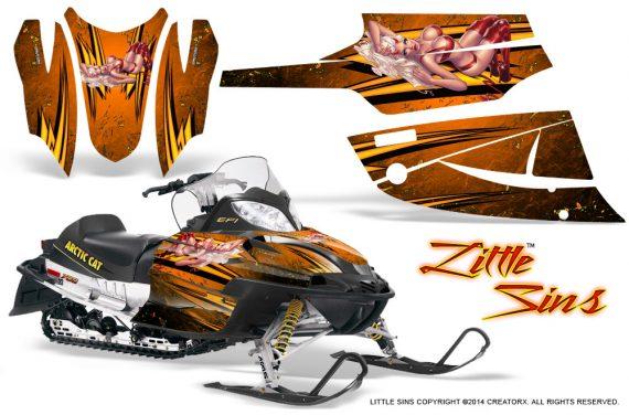 Arctic Cat Firecat CreatorX Graphics Kit Little Sins Orange 570x376 - Arctic Cat Firecat Sabercat F5 F6 F7 2003-2006 Graphics