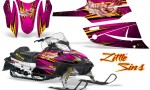Arctic Cat Firecat CreatorX Graphics Kit Little Sins Pink 150x90 - Arctic Cat Firecat Sabercat F5 F6 F7 2003-2006 Graphics