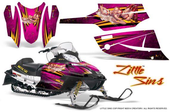 Arctic Cat Firecat CreatorX Graphics Kit Little Sins Pink 570x376 - Arctic Cat Firecat Sabercat F5 F6 F7 2003-2006 Graphics