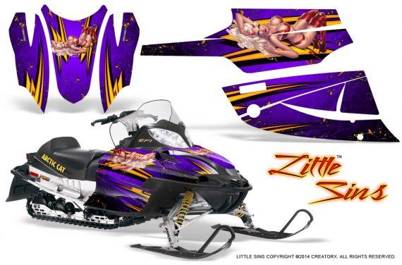 Arctic Cat Firecat CreatorX Graphics Kit Little Sins Purple 570x376 - Arctic Cat Firecat Sabercat F5 F6 F7 2003-2006 Graphics