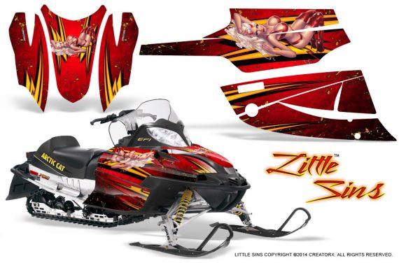 Arctic Cat Firecat CreatorX Graphics Kit Little Sins Red 570x376 - Arctic Cat Firecat Sabercat F5 F6 F7 2003-2006 Graphics