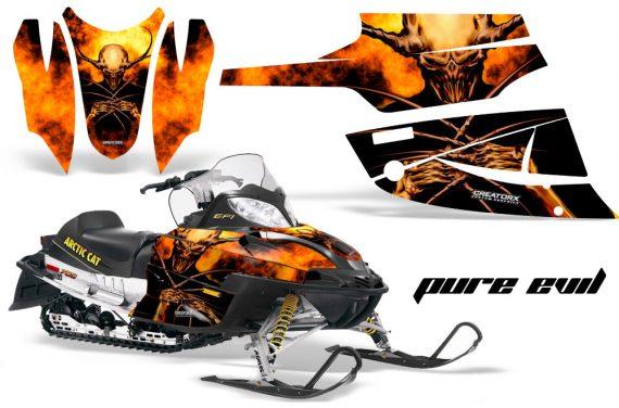 Arctic Cat Firecat CreatorX Graphics Kit Pure Evil 570x376 - Arctic Cat Firecat Sabercat F5 F6 F7 2003-2006 Graphics