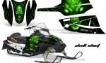 Arctic Cat Firecat CreatorX Graphics Kit Skull Chief Green Black 150x90 - Arctic Cat Firecat Sabercat F5 F6 F7 2003-2006 Graphics