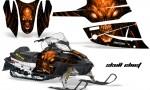 Arctic Cat Firecat CreatorX Graphics Kit Skull Chief Orange Black 150x90 - Arctic Cat Firecat Sabercat F5 F6 F7 2003-2006 Graphics