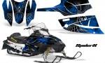 Arctic Cat Firecat CreatorX Graphics Kit SpiderX Blue Black 150x90 - Arctic Cat Firecat Sabercat F5 F6 F7 2003-2006 Graphics