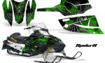 Arctic Cat Firecat CreatorX Graphics Kit SpiderX Green Black 150x90 - Arctic Cat Firecat Sabercat F5 F6 F7 2003-2006 Graphics