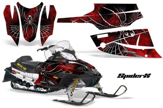 Arctic Cat Firecat CreatorX Graphics Kit SpiderX Red Black 570x376 - Arctic Cat Firecat Sabercat F5 F6 F7 2003-2006 Graphics