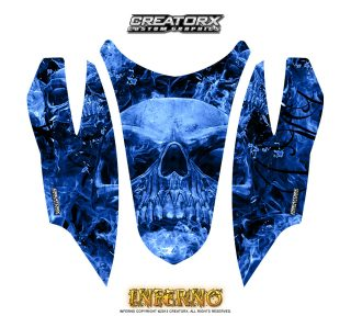 Arctic Cat Firecat Hood CreatorX Graphics Kit Inferno Blue 320x288 - Arctic Cat Firecat Sabercat F5 F6 F7 2003-2006 Hood Graphics