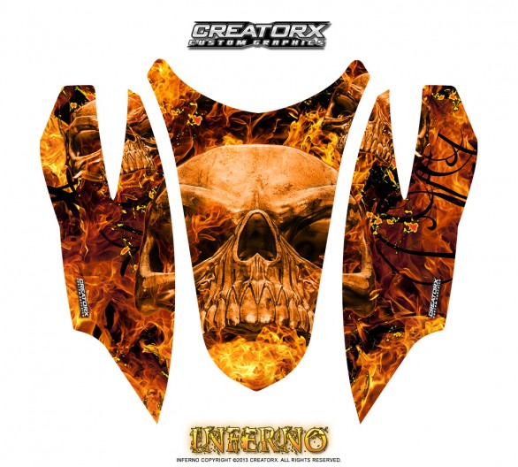 Arctic-Cat-Firecat-Hood-CreatorX-Graphics-Kit-Inferno-Orange