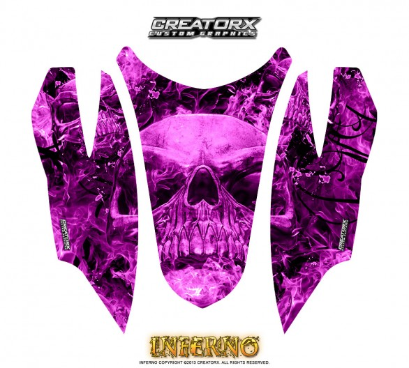 Arctic-Cat-Firecat-Hood-CreatorX-Graphics-Kit-Inferno-Pink