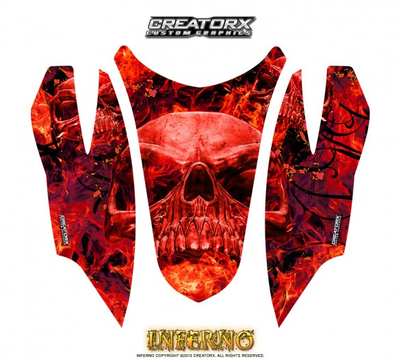 Arctic-Cat-Firecat-Hood-CreatorX-Graphics-Kit-Inferno-Red