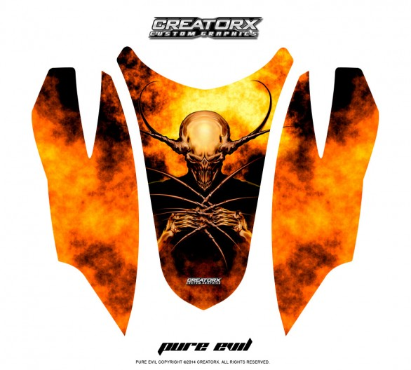 Arctic-Cat-Firecat-Hood-CreatorX-Graphics-Kit-Pure-Evil