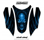 Arctic-Cat-Firecat-Hood-CreatorX-Graphics-Kit-Skull-Chief-Blue