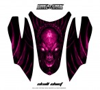 Arctic-Cat-Firecat-Hood-CreatorX-Graphics-Kit-Skull-Chief-Pink