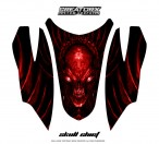 Arctic-Cat-Firecat-Hood-CreatorX-Graphics-Kit-Skull-Chief-Red