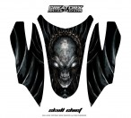 Arctic-Cat-Firecat-Hood-CreatorX-Graphics-Kit-Skull-Chief-Silver