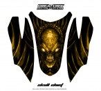 Arctic-Cat-Firecat-Hood-CreatorX-Graphics-Kit-Skull-Chief-Yellow