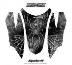 Arctic-Cat-Firecat-Hood-CreatorX-Graphics-Kit-SpiderX-White