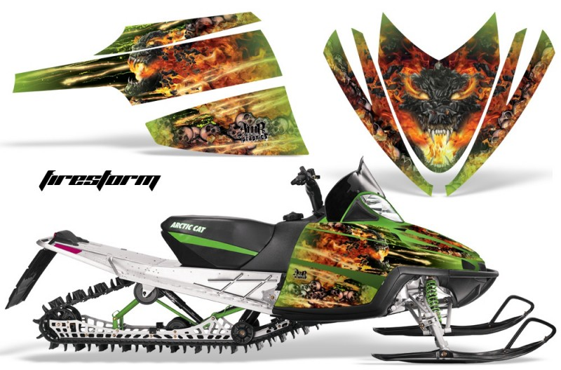 Arctic-Cat-M-Series-AMR-Graphics-Kit-FIRESTORM-GREEN