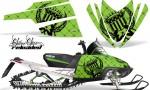 Arctic Cat M Series AMR Graphics Kit RELOADED GREEN 150x90 - Arctic Cat M Series Crossfire Graphics