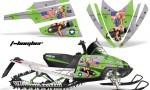 Arctic Cat M Series AMR Graphics Kit TBOMBER GREEN 150x90 - Arctic Cat M Series Crossfire Graphics