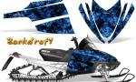 Arctic Cat M Series CrossFire CreatorX Graphics Kit Backdraft Blue 150x90 - Arctic Cat M Series Crossfire Graphics
