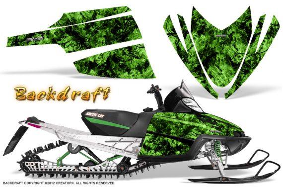 Arctic Cat M Series CrossFire CreatorX Graphics Kit Backdraft Green 570x376 - Arctic Cat M Series Crossfire Graphics