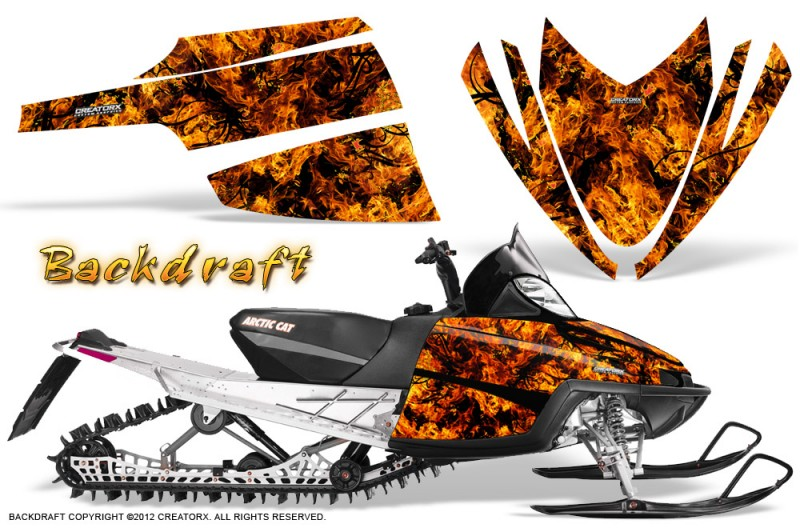 Arctic-Cat-M-Series-CrossFire-CreatorX-Graphics-Kit-Backdraft-Orange