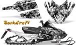 Arctic Cat M Series CrossFire CreatorX Graphics Kit Backdraft White 150x90 - Arctic Cat M Series Crossfire Graphics