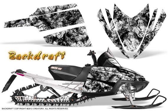 Arctic Cat M Series CrossFire CreatorX Graphics Kit Backdraft White 570x376 - Arctic Cat M Series Crossfire Graphics