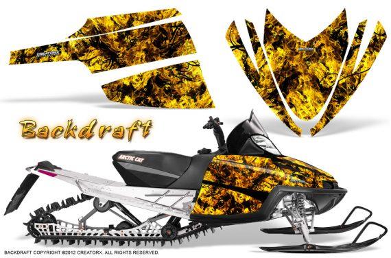 Arctic Cat M Series CrossFire CreatorX Graphics Kit Backdraft Yellow 570x376 - Arctic Cat M Series Crossfire Graphics