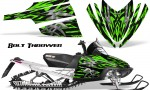Arctic Cat M Series CrossFire CreatorX Graphics Kit Bolt Thrower Green 150x90 - Arctic Cat M Series Crossfire Graphics