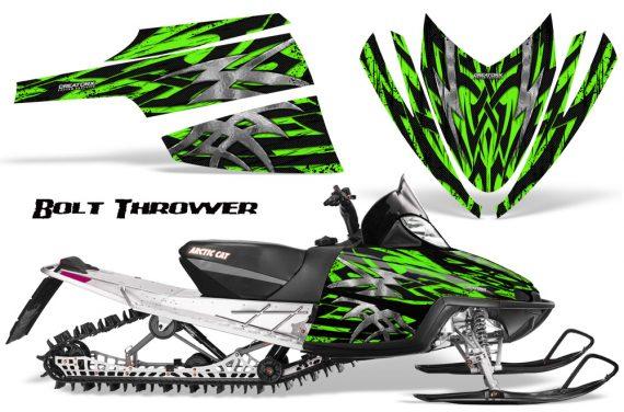 Arctic Cat M Series CrossFire CreatorX Graphics Kit Bolt Thrower Green 570x376 - Arctic Cat M Series Crossfire Graphics
