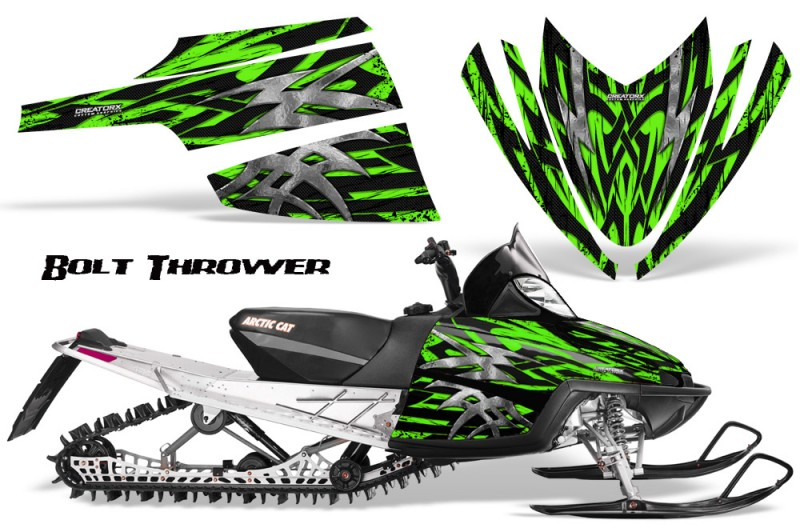 Arctic-Cat-M-Series-CrossFire-CreatorX-Graphics-Kit-Bolt-Thrower-Green