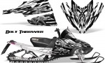 Arctic Cat M Series CrossFire CreatorX Graphics Kit Bolt Thrower White 150x90 - Arctic Cat M Series Crossfire Graphics