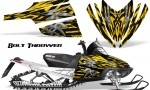 Arctic Cat M Series CrossFire CreatorX Graphics Kit Bolt Thrower Yellow 150x90 - Arctic Cat M Series Crossfire Graphics