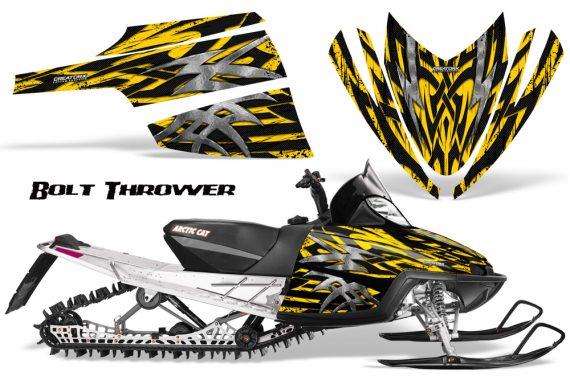 Arctic Cat M Series CrossFire CreatorX Graphics Kit Bolt Thrower Yellow 570x376 - Arctic Cat M Series Crossfire Graphics