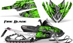 Arctic Cat M Series CrossFire CreatorX Graphics Kit Fire Blade Black Green 150x90 - Arctic Cat M Series Crossfire Graphics