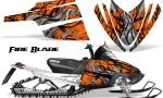 Arctic Cat M Series CrossFire CreatorX Graphics Kit Fire Blade Black Orange 150x90 - Arctic Cat M Series Crossfire Graphics