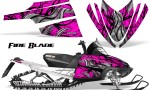 Arctic Cat M Series CrossFire CreatorX Graphics Kit Fire Blade Black Pink 150x90 - Arctic Cat M Series Crossfire Graphics