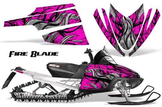 Arctic Cat M Series CrossFire CreatorX Graphics Kit Fire Blade Black Pink 570x376 - Arctic Cat M Series Crossfire Graphics