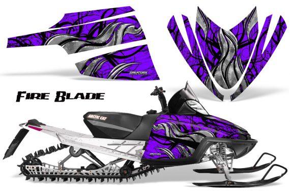Arctic Cat M Series CrossFire CreatorX Graphics Kit Fire Blade Black Purple 570x376 - Arctic Cat M Series Crossfire Graphics
