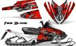 Arctic Cat M Series CrossFire CreatorX Graphics Kit Fire Blade Black Red 150x90 - Arctic Cat M Series Crossfire Graphics