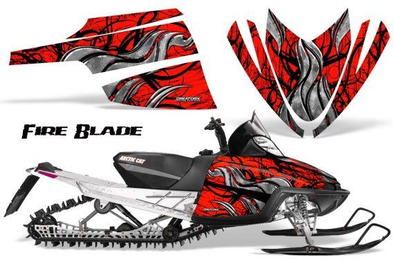 Arctic Cat M Series CrossFire CreatorX Graphics Kit Fire Blade Black Red 570x376 - Arctic Cat M Series Crossfire Graphics