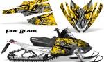 Arctic Cat M Series CrossFire CreatorX Graphics Kit Fire Blade Black Yellow 150x90 - Arctic Cat M Series Crossfire Graphics