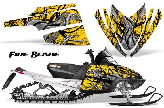 Arctic Cat M Series CrossFire CreatorX Graphics Kit Fire Blade Black Yellow 570x376 - Arctic Cat M Series Crossfire Graphics