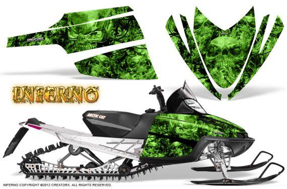 Arctic Cat M Series CrossFire CreatorX Graphics Kit Inferno Green 570x376 - Arctic Cat M Series Crossfire Graphics