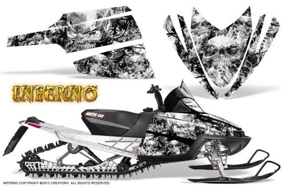 Arctic Cat M Series CrossFire CreatorX Graphics Kit Inferno White 570x376 - Arctic Cat M Series Crossfire Graphics