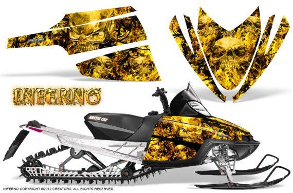 Arctic Cat M Series CrossFire CreatorX Graphics Kit Inferno Yellow 570x376 - Arctic Cat M Series Crossfire Graphics