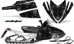 Arctic Cat M Series CrossFire CreatorX Graphics Kit Skullcified Flat Black 150x90 - Arctic Cat M Series Crossfire Graphics